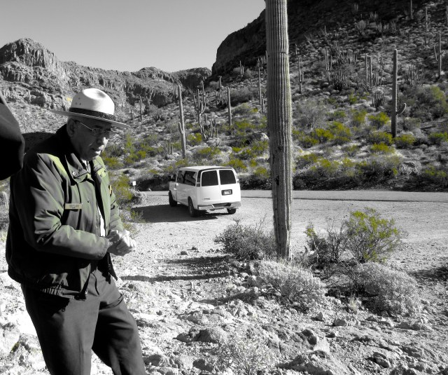 Our tour guide. Organ Pipe National Monument.