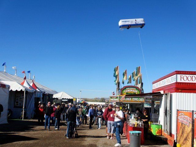 Outside the big tent at the Quartzsite, Az. RV show, 2013.
