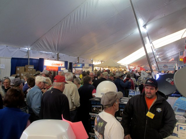 The Quartzsite, Az. RV show, in the big tent.  A wee bit crowded during the day.  First thing in the morning is best.